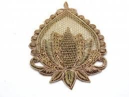 rose gold zardosi embroider styling <b>cutouts</b> decorative metal ...
