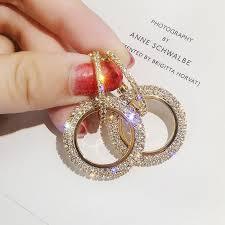 <b>New Design Creative Jewelry</b> High Quality Rhinestone Earrings ...