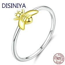 2019 <b>DISINIYA 100</b>% <b>Real</b> 925 Sterling Silver Lovely Bees Ring For ...
