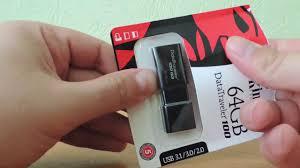 <b>Флешка Kingston</b> 64GB <b>DT100G3</b> А где <b>USB</b> 3.0? Скорость записи ...