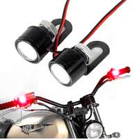 mayitr 1pc 12v motorcycle red lens license plate mount holder brake tail light universal fitment for atv cruiser off road
