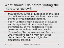 Does a literature review have to be in chronological order     Does a literature review have to be in chronological order