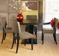 room ergonomic furniture chairs: enhancing feng shui room with black round wooden table also comfortable dining chairs