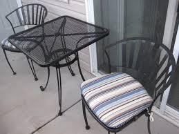 metal patio coffee table black iron outdoor furniture