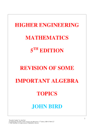 john bird higher engineering mathematics e remedial algebra