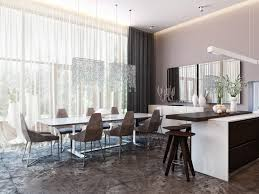 Contemporary Dining Room Design Modern House Interiors With Dynamic Texture And Pattern