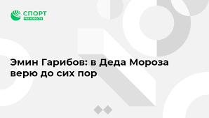 Эмин Гарибов: в <b>Деда Мороза верю</b> до сих пор - Спорт РИА ...