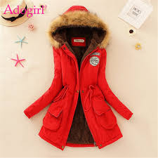 Adogirl Plus Size <b>S 3XL Women Hooded</b> Parkas with Faux Fur ...