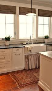 sink windows window love:  benjamin moore white dove beadboard ceiling amp backsplash soapstone counter tops linen skirted farmhouse sink and polished nickel perrin and rowe sink