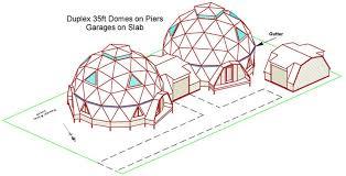 Kwickset Konstruction Kits  Geodesic Dome Home Floor Plans ft Kwickset Domes Duplex  ft Dome Duplex First Floor Plan