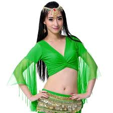 <b>12 Colors</b> Orient <b>Belly</b> Dance Clothing Practice Clothes Choli Flare ...