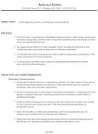 sample resume management marketing communications resume template functional