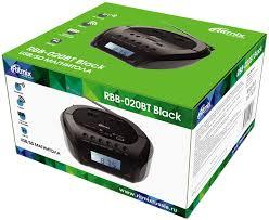 <b>Магнитола Ritmix RBB</b>-<b>020BT black</b> — купить бумбокс по лучшей ...