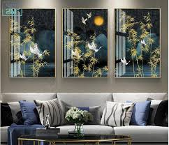 Classical Home Decoration Poster <b>Vintage Chinese Style Golden</b> ...