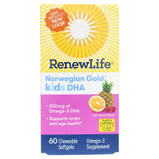<b>Norwegian Gold Kids</b> DHA Daily Omega-3, Renew Life