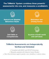 s staff turnover s rep turnover s team turnover trimetrix goes beyond traditional behavioral assessments by combining the trusted and well known disc assessment reports that reveal a candidate s