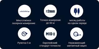 <b>Рулетка лазерная</b> Xiaomi <b>Mileseey Laser</b> Ranging Measure Blue ...