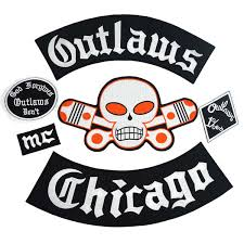 2019 <b>Outlaw CHICAGO Forgives</b> Patch Biker Rider Patch BACKING ...