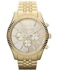 michael kors men s chronograph lexington gold tone stainless steel michael kors men s chronograph lexington gold tone stainless steel bracelet watch 45mm mk8281 watches jewelry watches macy s