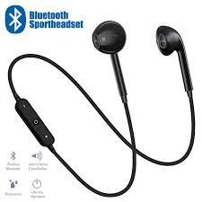 <b>S6 Sport Neckband</b> Wireless Bluetooth Headphones Phone ...