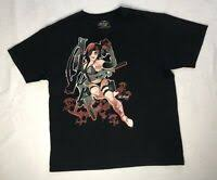<b>Death from Above</b> T shirt <b>Mens</b> Size SM PinUp Girl Rare Style Find ...
