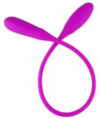 <b>Фиолетовый</b> двусторонний гибкий <b>вибратор Pretty Love</b> Snaky vibe