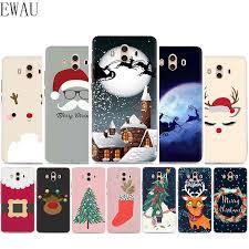 EWAU Happy <b>New Year Christmas Silicone</b> Mattle phone case for ...