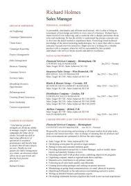 sales manager cv example sample resume sales manager