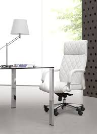 elegant and unique white minimalist acrylic office chairs