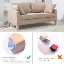 DOKU Floor Protector Chair Leg <b>Furniture</b> Pads, <b>Non Slip Rubber</b> ...