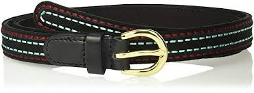 <b>House</b> of Boho Rice Stitch Embroidery 100% <b>Leather Belt</b>