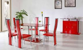 Painting Dining Room Furniture Red Dining Chairs Interior Decorating Ideas