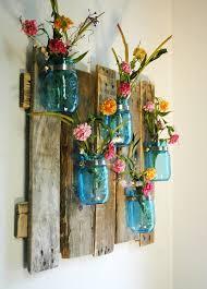 bedroom vintage ideas diy kitchen: blue mason jars on salvaged wood wall display decor vases upcycle recycle salvage diy thrift flea repurpose refashion for vintage ideas and