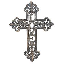 iron wall cross love: briarwood home love cast iron wall cross beyond the rack its the most minor