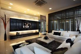 beautiful large living room design decorated by black white section sofa decoration big living room couches