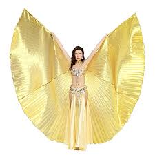 Dance Fairy Belly Dance Isis Wings with Sticks,Gold ... - Amazon.com