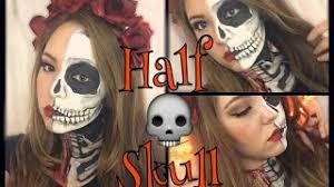 07 21 half skull makeup tutorial 2016