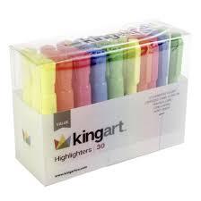 KINGART™ Value Pack Highlighter Marker <b>Set</b>, <b>30 Pcs</b>