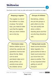 school trip safety childcare and teaching worksheet preview