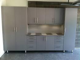 custom silver garage cabinets stainless steel countertop led under cabinet lighting cabinet lighting custom