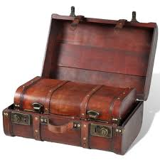 Anself Set of <b>2 Wooden Treasure Chests</b> V- Buy Online in Cambodia ...