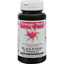 Kroeger Herb <b>Black Radish</b> And <b>Parsley</b> - 100 Capsules - Buy ...