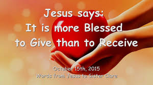 Image result for jesus says about giving
