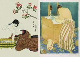 essay ukiyo e and the convention of kanagawa what role did they ukiyo e influenced the west towards portraying people especially women in everyday situations left w bathing under flowers around 1800