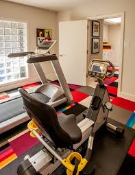 superb marcy home gymin home gym contemporary with exquisite exercise room next to stunning basement carpet alongside ravishing flooring and pretty best carpets bedrooms ravishing home