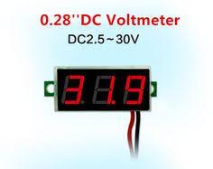 Red LED <b>Car</b> Cigarette Lighter Digital Voltmeter Thermometer ...