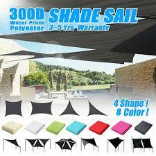 <b>Sun Shade</b> Sail 300D Garden Patio Cover Waterproof Awning ...