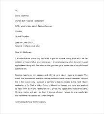 sample cover letter example for job      download free documents    sample chef job cover letter