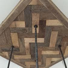 barnboard mason jar chandelier with herringbone inlay chandelier barn board