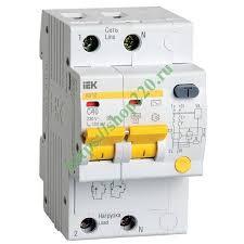 <b>Дифференциальный автомат</b> АД12 2Р С40А 100мА тип АС <b>ИЭК</b>
